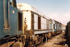 20050 @ Doncaster Works 1984. (Chris Firth of Wakey.) Tags: doncasterworks class20 class55 deltic 55016 gordonhighlander