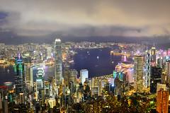 繽紛夜香港(DSC_4720) (nans0410(busy)) Tags: hongkong cityscape lighting nightview thepeak buildings 香港 城市景觀 太平山 建築 夜景 光影 盧吉道 lugardrd