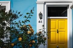 Notting Hill (mlk.dahoui) Tags: door london nottinghill yellow blue flowers roses windows house england uk nikon colorful 44 number street white light travel nikonflickraward d750