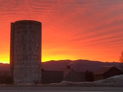 sunrise (mike greenwood 13) Tags: vt vermont cornwallvt silo addisoncounty sunrise