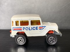Majorette France - 200 Series - Number 277 - 4x4 Toyota / Toyota Land Cruiser - Police Car / French National Police - Miniature Die Cast Metal Scale Model Emergency Services Vehicle (firehouse.ie) Tags: police toyota majorette landcruiser metal miniatures miniature model models jeep 4x4 4wd atv awd