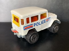 Majorette France - 200 Series - Number 277 - 4x4 Toyota / Toyota Land Cruiser - Police Car / French National Police - Miniature Die Cast Metal Scale Model Emergency Services Vehicle (firehouse.ie) Tags: police toyota majorette landcruiser metal miniatures miniature model models cars car cops 4x4 4wd coche cop atv awd coches