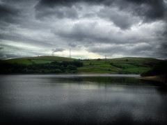 Moody Ogden Reservoir (1) (Missy Jussy) Tags: moodyogdenreservoir ogden ogdenreservoir landscape lancashire land sky clouds pylons fields water reflections light moodylandscape moody atmosphere outdoor outside countryside walkinglandscape rochdale saddleworth northwest england