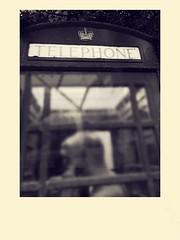 The Past Is Calling (TrustFin) Tags: polaroid filter blackandwhite nostalgic classic phone old telephonebox uk