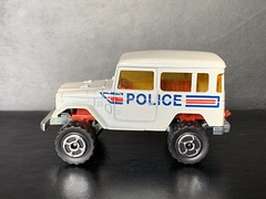 Majorette France - 200 Series - Number 277 - 4x4 Toyota / Toyota Land Cruiser - Police Car / French National Police - Miniature Die Cast Metal Scale Model Emergency Services Vehicle (firehouse.ie) Tags: police toyota majorette landcruiser metal miniatures miniature model models jeep jeeps 4x4 4wd atv awd cars car cops cop