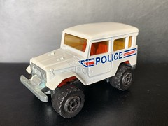 Majorette France - 200 Series - Number 277 - 4x4 Toyota / Toyota Land Cruiser - Police Car / French National Police - Miniature Die Cast Metal Scale Model Emergency Services Vehicle (firehouse.ie) Tags: police toyota majorette landcruiser metal miniatures miniature model models cars car cops coche cop coches