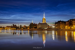 Noctilucent Clouds (mitelski) Tags: bridge evening featured illumination night noctilucentcloud outdoor river spring water wrocław lowersilesianvoivodeship poland noctilucent cloud cloudscape illuminated cityscape cityview citybynight city landmark cathedral beautiful skyline sky antique view nlc northern destination wroclaw travel stars