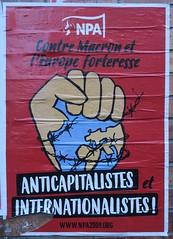 Anticapitalistes et internationalistes ! (emmanuelsaussieraffiches) Tags: affiche politique political poster nouveaupartianticapitaliste