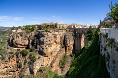 Ronda, Spain. (Johnners61) Tags: ronda spain espania andalucia town city oldtown street omd olympusomd olympus omdem5 sunny sun gorge bridge dramatic puentenuevo puente historicbridge pano panorama mft m43 microfourthirds