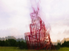 (ICM) Sculpture Tatlin's Tower at SCVA, Norwich, UK.-2.jpg (+Pattycake+) Tags: scva exhibition photoart ©patriciawilden2019 icm norwich sainsburycentrevisualart red tatlinstower 17june2019 tatlintower photoarty incameraicm atmosphere ndfilter iso400 1secatf22 pw11077 abstractphotography experimentalphotography intentionalcameramovement abstractphotos impressionistphotography camerapainting slowexposure photoimpressionism intentionalblur artinnature abstractphotoart icmphotography bluronpurpose abstract experiment incameradoubleexposure indoor light patterns photography shapes