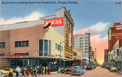 Franklin Street Downtown Tampa Florida Vintage Postcard (Phillip Pessar) Tags: franklin street downtown tampa florida vintage postcard sh kress s h jj j newberry five dime variety store