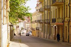 A Street in Vilnius, Lithuania (mandalaybus) Tags: street streets streetscape streetscapes architecture building buildings ledifice lesedifices lithuania vilnius lovelycity 5photosaday