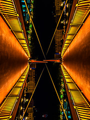 X (XP °°° LiGHTPAINTING is MAGiK °°° Photosplus) Tags: x rotation x2 lyon 69005 france passerelle du collège europe city ville ciudad lflp lpwa omd olympus sirui photography photographie lightpainting light lumière luz bridge pont hot chaud rouge red rot rojo orange oranga jaune yellow amarillo gelb color colors couleur couleurs infinitexposure longexposure long exposure maxime photo max pateau photosplus xp