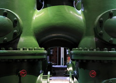 Green Machine (95wombat) Tags: old historic industrial heritage machinery huge big large aboveaverage corliss water pump