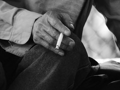 NYC Noir (alanzmarmur) Tags: cigarette smoking hand