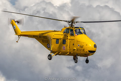 Westland Whirlwind XJ729 (@toonaew) Tags: rescue search airshow helicopter westland sar raf cosford whirlwind xj729 smile yellow chopper winch lifesaver 22squadron boulmer 202squadron