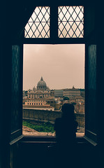 Rome (ArSalles) Tags: roma rome europe vaticano vaticancity church window urban street view sights trip travel vacations pope frame silhouette people building architecture old ancient romans canon canon7d cityscapes