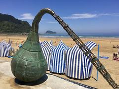 Playa de Zarautz con baja mar (eitb.eus) Tags: eitbcom 5963 g151049 tiemponaturaleza tiempon2019 playa gipuzkoa zarautz lorentxoportularrumeazcue