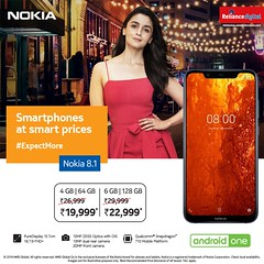 The all new Nokia 8.1 just got a huge price drop! - Reliance digital (eshajose90) Tags: mobilephones smartphone mobileprice latestmobilephones newmobilephone onlinemobileshopping mobilephoneprice onlinemobile