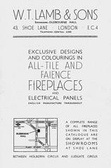 W. T. Lamb & Sons. Catalogue of Fireplaces. [c.1937] (growlerthecat) Tags: fireplace faience catalogue tradecatalogue tiles lamb
