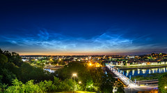 Noctilucent clouds over Kaunas old town | Lithuania #169/365 (A. Aleksandravičius) Tags: 2019 noctilucent clouds sidabriškieji debesys night kaunas architecture old town nemunas sky skyline bridge long exposure kaunas2022 lithuania lietuva nikon 20mm f18g nikkor 365one 365days 3652019 z7 nikonz7 20mmf18g afdnikkor20mmf18ged nikkor20mm nikon20mm18g nikon20mm 365 project365 169365