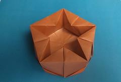 David Martínez's Pentagonal Box (georigami) Tags: origami papiroflexia papel paper