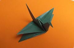 Satoshi Kamiya's X-Wing Crane (georigami) Tags: origami papiroflexia papel paper
