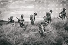 D Day 75 (Mark Wasteney) Tags: ww2 dday 1944 war soldiers army us combat wetplate doubleexposure monochrome saunton brauntonburrows northdevon westcountry