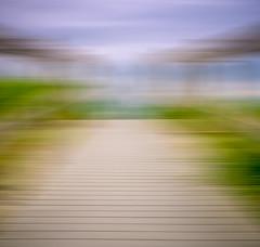 walkway (Steve Stanger) Tags: olympus olympusomdem10markii microfourthirds m43 micro43 getolympus olympuscamera blur walkway pathway motionblur tan green blue nj summer beach beachscape beachscene abstract seascape seashore outdoors closetohome
