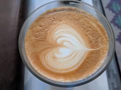 Coffee Art at the Read Shop (JavaJoba) Tags: pixel3a coffee coffeeart latte morningcoffee milk phone camera phonecamera