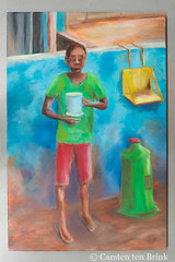 The roadside cup (10b travelling / Carsten ten Brink) Tags: carstentenbrink 10btravelling 2018 africa african cmtb centralstmartins ghana ghanaian iptcbasic objectspaintingoilpainting otherkeywords places westafrica art cmtbpainting cocoa cup girl painting tenbrink