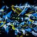 Bruxelles - Graffiti au Centre-Ville la nuit