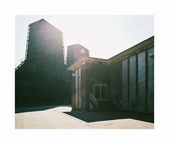 light and shade (ha*voc) Tags: mamiya7ii 65mm rangefinder film 6x7 120 mediumformat industrial urban urbanabstraction germany duisburgnord