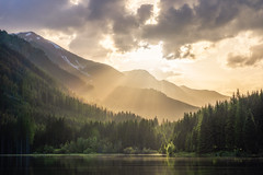 Sunrays at Ingeringsee (CHCaptures) Tags: cloudporn ingeringsee seckauertauern steiermark styria a7iii clouds dawn forest ilce7iii ilce7m3 lake mountainrange mountains mountainscape nature outdoor sel24105g sony sunrays sunset