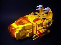 Suntron - Little Shuttle (Crimso Giger) Tags: lego moc space spaceship starship shuttle suntron yellow