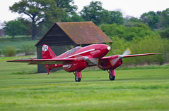 Touchdown (Nigel Musgrove-2.5 million views-thank you!) Tags: de havilland dh88 comet shuttleworth season premiere old warden bedfordshire england 5 may 2019 red racer record breaker