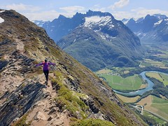 Anette walking the ridge.