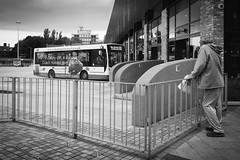 Bus Station (IWCharters) Tags: transport mono road england street wigan lancashire