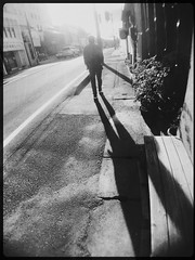 Your long shadow is expressing your life. (U-ichiro1003) Tags: street snap iphonese hipstamatic wide lens