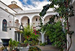 A Mysterious Place (Jocelyn777) Tags: courtyards patios churches cloisters villages towns whitevillages pueblosblancos ermitadelaoliva vejerdelafrontera andalucia spain travel