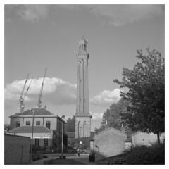 Brentford Steam Museum (Jamie Langford) Tags: rolleiflex ilfordfp4 120film blackwhite steammuseum london kew
