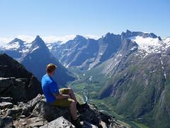 View towards Trollveggen and Romsdalshorn.