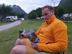 After 4,5 hours of driving down from Trondheim to Åndalsnes, the beer tasted.
