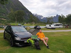 Åndalsnes Camping, is where we put up our tent for the night.