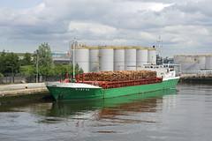 'Ayress' Alfred Dock 18th June 2019 (John Eyres) Tags: ayressbuilt1979arrivingatbirkenheadwithtimberfromsligo northernireland180619