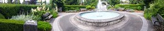Central park entrance and fountain (D70) Tags: burnaby britishcolumbia canada panorama central park entrance fountain flowers garden june bench seat