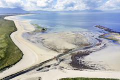 Bird's eye view, Banna Strand, Kerry. I like the orange digger seen dredging the channel. (Sean Hartwell Photography) Tags: bannastrand banna kerry countykerry beach sea dingle ireland atlantic aerial drone mavicpro dji sua dronephotography blackrock ocean