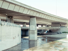 San Jose, California (bior) Tags: pentax645d mediumformat sanjose california overpass river channel guadalupeparkway guadaluperiver highway87 ca87 underpass concrete downtownsanjose