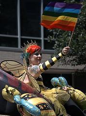 Queen Bee (Scott 97006) Tags: woman female parade queen bee honey flag cute