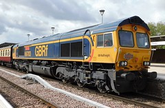 """66703 """"Doncaster PSB"""" - Derby Railway Station (The Walsall Spotter) Tags: gbrf class66 diesel locomotive 66703 doncasterpsb derby railway station uk networkrail britishrailways railtour"""